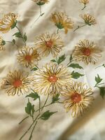 "Vintage Floral Flowers Daisies Miracale Double Bottom Fitted Sheet 54""x75"""
