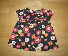 GYMBOREE FALL FOR AUTUMN BROWN FLOWER SWING TOP GIRLS 18 24 MO COTTON