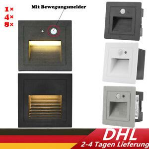 LED Treppenbeleuchtung Wandeinbauleuchte Stufenlicht Mit Bewegungsmelder Außen