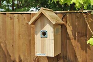 Bird Box with Wired Camera | Traditional Wooden Garden Hanging Wild Birds Nest