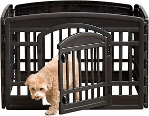 24'' Exercise 4-Panel Portable Pet Playpen Panels for Dogs Puppy & Small Animals