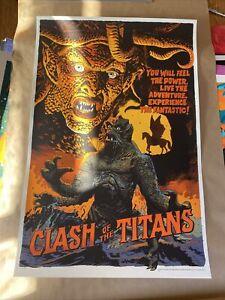 Clash of the Titans by Francesco Francavilla - Rare Mondo Print