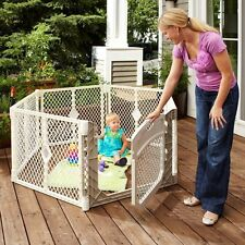 North States Superyard Ultimate Baby/Pet Gate & Play Yard - Ivory | 8779