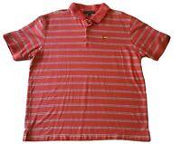Masters Collection Golf Polo Shirt Men's Sz XXL / 2XL Short Sleeve Striped Pink