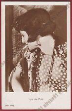LYA DE PUTTI 40 ATTRICE ACTRESS CINEMA MUTO SILENT MOVIE Cartolina viagg. 1929