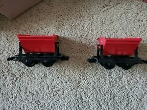 LGB 4043 (TWO) RED TIPPING MINING CARS