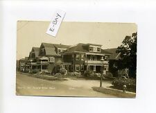 Forest Hills MA Mass RPPC real photo South Street view, homes, antique postcard