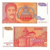 Pick 142a Jugoslawien /  Yugoslavia 50000 Dinara 1994  Unc./AU / 283877vvv