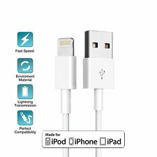 3 x USB Cable Charger for Apple iPhone 8 7 6 5 5s X iPad 1M Charging Cord