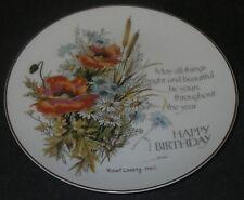 Collector Plate Porcelain Lasting Memories Happy Birthday Art Robert Laessig.