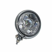 Chrome Assembly LED Headlight HI/LO Beam HID 10mm Bolt Lamp for Harley Motorbike