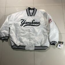 New Tags Authentic New York Yankees Button Up MLB Majestic BIG TALL Jacket 4XL