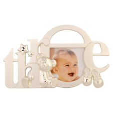 Silver Baby Girl Boy My 3rd Third Birthday Teddy Bootie Photo Picture Frame