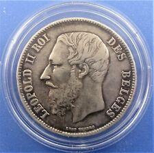 Belgium 5 francs 1867 ( without dot after F)