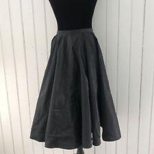 Bebe Womens Sz 6 Small Black Taffeta Full Skirt Made In USA Formal Club Career E