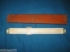 New listing Vintage Keuffel & Esser Co. N.Y. Slide Rule Model 4088-3 with Leather Case Usa