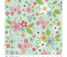 Riley Blake Garden Girl Floral MINT 100 Cotton Quilting Fabric One Metre