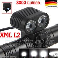 8000Lumen Headlamp 2 X CREE XM-L2 LED Bicycle Front Fahrrad Licht Scheinwerfer