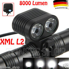 8000Lumen Headlamp 2 X CREE XM-L2 LED Bicycle Front Fahrrad Licht Scheinwerfer