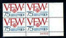 EFO 1525 STRONG BLUE TAGGING GHOST MNH PLATE BLOCK/4