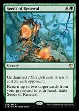 Seeds of Renewal NM X1 Commander 2016 - Green Rare- MTG EDH