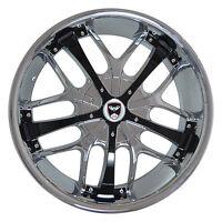 4 GWG Wheels 20 inch Chrome Black SAVANTI Rims fit ET35 LAND ROVER LR3 HSE 05-09