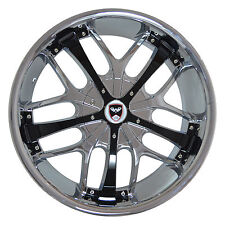 4 GWG Wheels 24 inch Chrome Black SAVANTI Rims fit GMC YUKON XL 1500 6 LUG 07-17