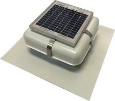 "Solar Roof Vent - Solar Attic Fan - Solar RVOblaster with ""White"" Vent"
