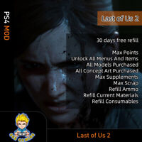 The Last of Us Part II (PS4 Mod)-Max Point/Items/ Supplements/Scrap/Menus/Ammo