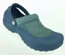 CROCS Suede Top Clogs Blue Women's shoe size 6
