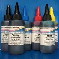 600ml Non OEM Refill Printer Ink Canon Pixma MG7250 including GREY/PIGMENT BLACK