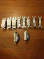 Lot Of 10 Light Switches various styles: lighted, toggles, rocker switches
