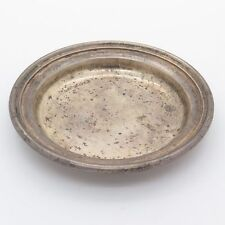 """Udall & Ballou Antique Sterling Silver Simple Plate 3"""" (54g)"""