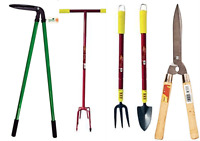 Garden Telescopic Hand Trowel Weeder Prong Hoe Fork Digging Gloves Planting Tool