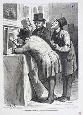 Honore Daumier France 1808-1879 Lithograph L'Hotel des Ventes  L'Amateur