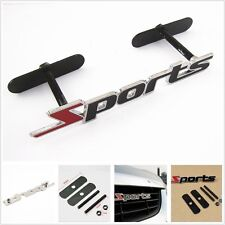 Sports Grill Logo With Screws 3D Chrome Badge Logo For Toyota Suzuki Hyundai