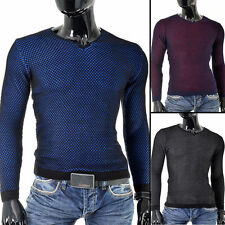 V Neck Patternless Long Sleeve Casual Shirts & Tops for Men