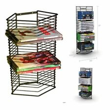 DVD Media Storage Tower BluRay Movies Stand Organizer Game Rack 28 Disc Capacity