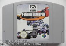 Jeu FORMULA ONE F1 WORLD CHAMPIONSHIP GRAND PRIX nintendo N 64 course voitures