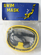 AMAZING VERY RARE VINTAGE 80'S SWIMMING SNORKEL MASK HONG KONG NEW SEALED !