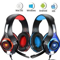 Pro Wired Gaming Headset With Mic FOR XBOX One PS4 Headphones Microphone Beats