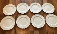 Set Of 8 Aynsley Whisper Gold Side Plates - 18cm
