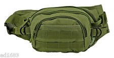 """19.5"""" Olive OD Green Tactical Waist Bag w/ MOLLE straps - Fanny Pack"""
