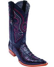 Los Altos Genuine CHERRY Caiman CROCODILE Tail 3x Toe Western Cowboy Boot EE