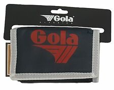 MENS / BOYS GOLA CLASSIC NYLON WALLET WITH ZIP COIN POCKET - NAVY / WHITE / RED