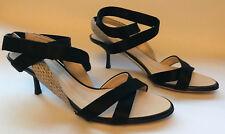 Ladies shoes size 3 36 Giuseppe Zanotti black snake skin ankle strap