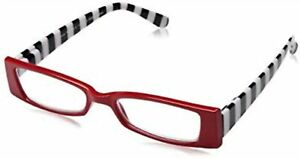New! Foster Grant Optique SHERRYN Red 1.75 Reading Glasses W/Soft Case FREE SHIP