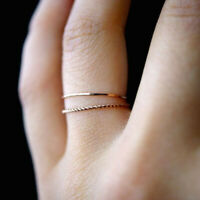 Women Girl Simple Thin Slim Stacking Knuckle Ring Small Finger Ring Jewelry WE