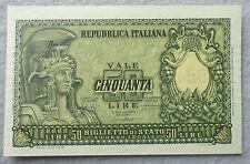 1951 Italy 50 Lire Repubblica Italiana - Biglietto di Stato Ch. Uncirculated