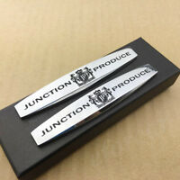 2pcs Metal JUNCTION PRODUCE JP VIP Car Fender Emblem Skirts Badge Decal Sticker
